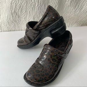 BOC 7 1/2 shoes animal cheetah print brown black